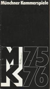 Münchner Kammerspiele, Hans-Reinhard Müller Programmheft Hartmut Lange: Die Gräfin von Rathenow. Premiere 18. Februar 1976 Spielzeit 1975 / 76 Heft 5