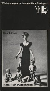 Württembergische Landesbühne Esslingen, Achim Thorwald, Susanna Kartusch Programmheft NORA - Ein Puppenheim Premiere 19. Januar 1977 Spielzeit 1976 / 77 Heft 6