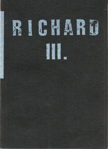 Volksbühne am Rosa-Luxemburg-Platz, Frank Castorf, Ursula Kohlert, Jana Nolte, Matthias Pees Programmheft Richard III. von William Shakespeare. Spielzeit 1996 / 97