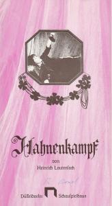 Düsseldorfer Schauspielhaus, Neue Schauspiel GmbH, Günther Beelitz, Gerd Jäger, Susanne Schneider, Lore Bermbach ( Probenfotos ) Programmheft Hahnenkampf. Komödie von Heinrich Lautensack. Premiere 10. Mai 1980 Spielzeit 1979 / 80 Heft 17