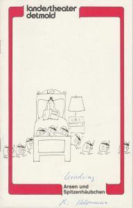 Landestheater Detmold, Otto Hans Böhm, Franz Wirtz, Bruno Scharnberg Programmheft Arsen und Spitzenhäubchen von Joseph Kesselring Spielzeit 1981 / 82 Heft 5