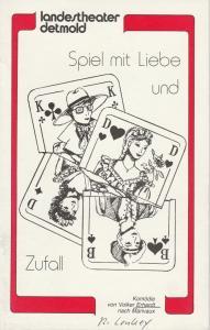 Landestheater Detmold, Otto Hans Böhm, Bruno Scharnberg Programmheft Erhardt/ nach Marivaux Spiel von Liebe und Zufall Premiere 7. Dezember 1982 Kurtheater Spielzeit 1982 / 83 Heft 9