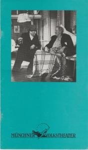 Münchner Volkstheater, Ruth Drexel, Regine Friedrich, Kai Mickley Programmheft Neil Simon: SONNY-BOYS Premiere 3. August 1989 Spielzeit 1988 / 89 Heft 10