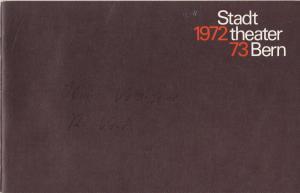 Stadttheater Bern, Walter Oberer, Walter Boris Fischer, Martin Dreier Programmheft Uraufführung TYPHOS von Walter Vogt. Spielzeit 1972 / 73 Heft 11