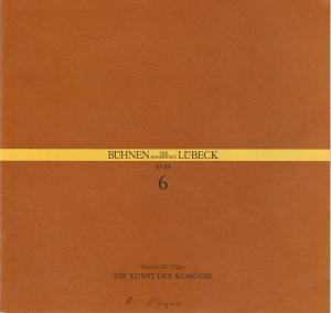 Bühnen der Hansestadt Lübeck, Hans Thoenies, Ulrich Fischer Programmheft Eduardo De Filippo: Die Kunst der Komödie Premiere 29. Oktober 1983 Kammerspiele Spielzeit 1983 / 84 Heft 6
