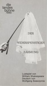 Landesbühne Niedersachsen Nord, Georg Immelmann Programmheft Der Widerspenstigen Zähmung. Lustspiel von William Shakespeare. Spielzeit 1979 / 80 Heft 3
