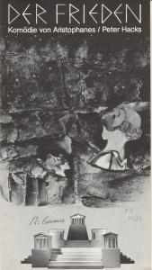 Städtische Bühnen Augsburg, Rudolf Stromberg, Hartwig Kaus Programmheft Der Frieden. Komödie von Aristophanes Premiere 1. Oktober 1976 Spielzeit 1976 / 77 Heft 2
