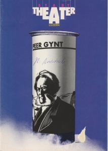 Stadttheater Luzern, Philippe de Bros, Ulrike Streitenberger, Thomas Uhrmann Programmheft PEER GYNT. Ein dramatisches Gedicht von Henrik Ibsen Premiere 21. September 1983