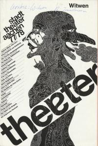 Stadttheater Aachen, Peter Maßmann Programmheft WITWEN von Akos Kertesz Premiere 16. März 1978 Spielzeit 1977 / 78 Heft 17