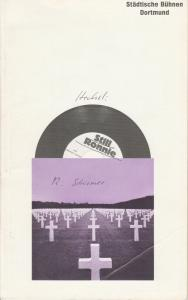 Städtische Bühnen Dortmund, Paul Hager Programmheft Heinrich Henkel: STILL RONNIE. Premiere 22. Oktober 1982 Studio Hiltropwall
