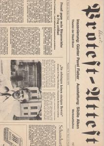 Theater der Stadt Bonn, Hans-Joachim Heyse, Egon Kochanowski, Ansgar Haag Programmheft Vaclav Havel PROTEST / Pavel Kohout ATTEST. Premiere 15. Dezember 1979
