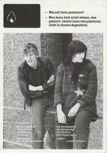 Westfälisches Landestheater, Regina Nölke Programmheft Burning Love. Ein Stück für Jugendliche von Fitzgerald Kusz. Premiere 22. Februar 1985 Studio des WLT