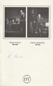 Deutsches Theater in Göttingen, Günther Fleckenstein, Norbert Baensch Programmheft Uraufführung MORAST von Pavel Kohout / ARREST von Pavel Landovsky Spielzeit 1981 / 82 Heft 500