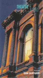 Städtische Bühnen Augsburg, Peter Baumgardt, Lenz Prütting Programmheft DER TARTUFFE. Komödie von Moliere. Premiere 18. September 1993 Stadttheater Spielzeit 1993 / 94 Heft 1