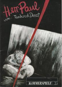 Deutsches Theater und Kammerspiele Berlin, Thomas Langhoff, Maik Hamburger Programmheft HERR PAUL von Tankred Dorst. Premiere am 26. März 1994. Spielzeit 1994 / 95