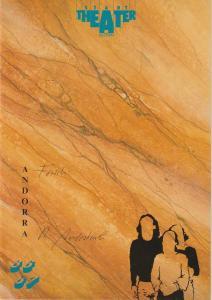 Stadttheater Luzern, Philippe de Bros, Ulrike Streitenberger Programmheft Max Frisch: ANDORRA Premiere 13. November 1986 Spielzeit 1986 / 87 Heft 6