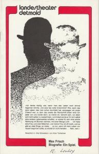 Landestheater Detmold, Otto Hans Böhm, Franz Wirtz, Bruno Scharnberg Programmheft Max Frisch: Biografie: Ein Spiel. Spielzeit 1981 / 82 Heft 11