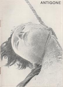 Schaubühne am Halleschen Ufer, Leni Langenscheidt, Jürgen Schitthelm, Klaus Weiffenbach Programmheft Die Antigone des Sophokles. Premiere 28. September 1965