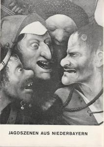 Schaubühne am Halleschen Ufer, Leni Langenscheidt, Jürgen Schitthelm, Klaus Weiffenbach Programmheft Jagdszenen aus Niederbayern von Martin Sperr. Premiere 27. September 1966