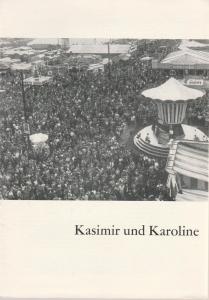 Schaubühne am Halleschen Ufer, Leni Langenscheidt, Jürgen Schitthelm, Klaus Weiffenbach Programmheft Kasimir und Karoline. Volksstück von Ödön von Horvath. Premiere 6. März 1964