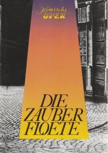 Komische Oper Berlin, Albert Kort, Gerhard Müller, Eberhard Schmidt, Hartmut Henning Programmheft DIE ZAUBERFLÖTE. Große Oper von Emanuel Schikaneder 17. März 1996