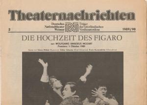 Deutsches Nationaltheater Weimar, Fritz Wendrich, Christine Schild Theaternachrichten Deutsches Nationaltheater Weimar 2 - 1989 / 90