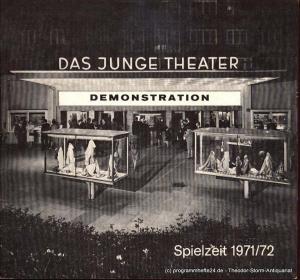 Caute David, Schütter Friedrich Programmheft DEMONSTRATION Deutsche Erstaufführung Das junge Theater Spielzeit 1971/72