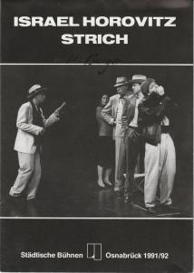 Städtische Bühnen Osnabrück, Nobert Kleine Borgmann, Peter Biermann Programmheft Israel Horovitz: Strich ( Line ) Premiere 27. Februar 1992 im emma-theater Spielzeit 1991 / 92
