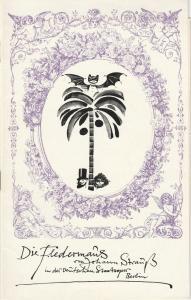 Deutsche Staatsoper Berlin DDR, Werner Otto, Werner Klemke ( Illustrationen ) Programmheft Johann Strauss Die Fledermaus Premiere 13. Juli 1975