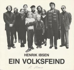 Landesbühne Niedersachsen Nord im Stadttheater Wilhelmshaven, Georg Immelmann, Jörg Gade Programmheft Henrik Ibsen: EIN VOLKSFEIND Premiere 19. November 1983