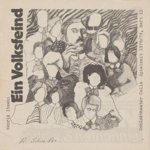 Schlosstheater Celle, Eberhard Johow, Martin Dreier Programmheft EIN VOLKSFEIND. Schauspiel von Henrik Ibsen. Spielzeit 1978 / 79 Heft 11