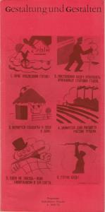 Staatstheater Dresden Gestaltung und Gestalten. Programme Staatstheater Dresden 4 - 1969 - 70