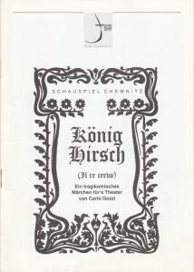 Theater der Stadt Schweinfurt, Rüdiger R. Nenzel Programmheft KÖNIG HIRSCH. Märchen von Carlo Gozzi 28. April 1997 Spielzeit 1996 / 97 Heft 15