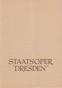 Staatsoper Dresden, Heinrich Allmeroth, Eberhard Sprink Programmheft Georges Bizet: CARMEN 17. Mai 1960