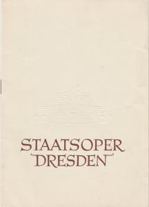 Staatsoper Dresden, Heinrich Allmeroth, Eberhard Sprink Programmheft Wolfgang Amadeus Mozart: COSI FAN TUTTE Spielzeit 1957 / 58 Reihe A Nr. 7