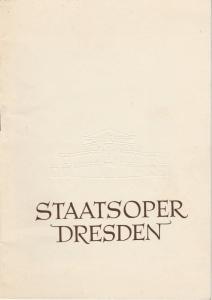 Staatsoper Dresden, Heinrich Allmeroth, Eberhard Sprink Programmheft Wolfgang Amadeus Mozart: LUCIUS SULLA Spielzeit 1955 / 56 Reihe A Nr. 1