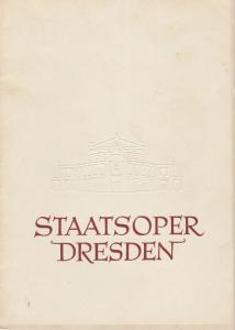 Staatsoper Dresden, Heinrich Allmeroth, Eberhard Sprink Programmheft Richard Strauss: DER ROSENKAVALIER Spielzeit 1948 / 49 Reihe A Nr. 7