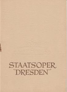Staatsoper Dresden, Heinrich Allmeroth, Eberhard Sprink Programmheft Gioacchino Rossini: DER BARBIER VON SEVILLA. Spielzeit 1958 / 59 Reihe A Nr. 2
