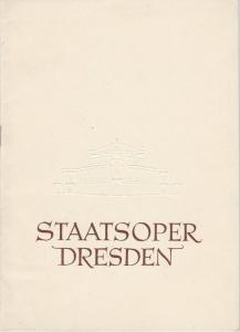 Staatsoper Dresden, Heinrich Allmeroth, Eberhard Sprink Programmheft JANOSIK. Tanzdrama von Vaclav Kaslik Spielzeit 1955 / 56 Reihe A Nr. 5