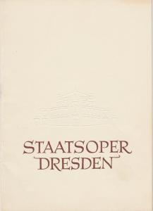 Staatsoper Dresden, Heinrich Allmeroth, Eberhard Sprink Programmheft ABRAXAS. Ballett von Werner Egk Spielzeit 1957 / 1958 Reihe B Nr. 1