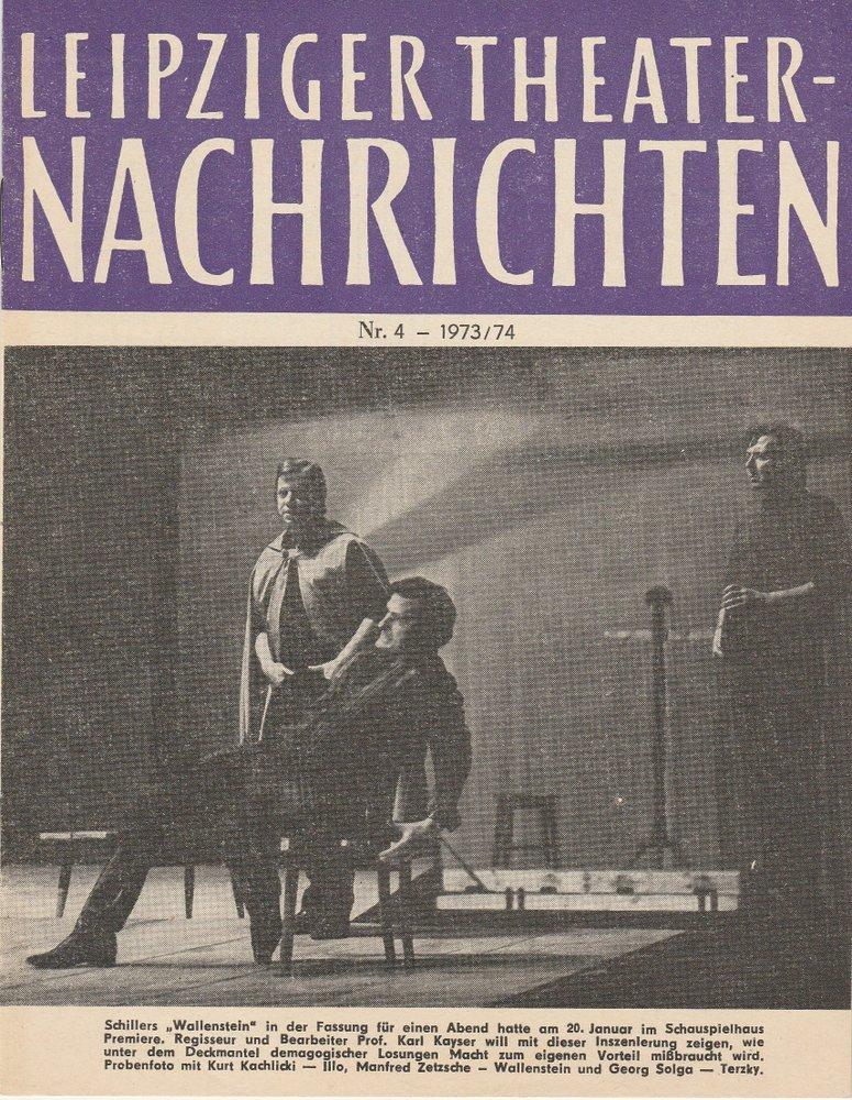 Städtische Theater Leipzig, Karl Kayser, Christoph Hamm, Martina Aurich Leipziger Theater-Nachrichten Nr. 4 1973 / 74 0