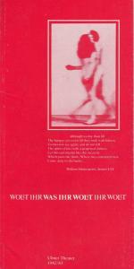 Ulmer Theater, Volkmar Clauß, Wilhelm Lades Programmheft William Shakespeare: WAS IHR WOLLT. Premiere 9. Oktober 1982 Spielzeit 1982 / 83