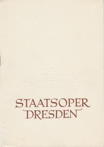 Staatsoper Dresden, Heinrich Allmeroth, Eberhard Sprink, Jürgen Beythien Programmheft Georg Friedrich Händel: ALEXANDER 8. März 1959 Spielzeit 1958 / 1959 Reihe A Nr. 3