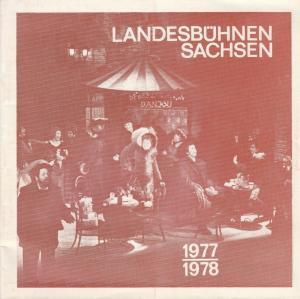 Landesbühnen Sachsen, Christian Pötzsch, Margitta Jänsch, Thomas Sprink Landesbühnen Sachsen 1977 / 1978 Spielzeitheft