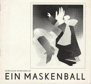 Komische Oper Berlin, Stephan Stompor, Dietrich Kaufmann ( Illustrationen ) Programmheft Giuseppe Verdi: EIN MASKENBALL 27. Dezember 1973