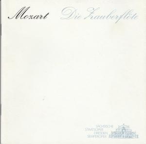 Sächsische Staatsoper Dresden, Semperoper, Hella Bartnig, Ekkehard Walter Programmheft Wolfgang Amadeus Mozart: Die Zauberflöte Spielzeit 1993 / 94