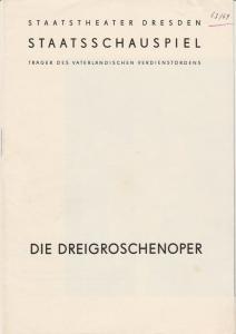 Staatstheater Dresden, Staatsschauspiel, Gerd Michael Henneberg, Gotthard Müller, Heinz Pietzsch Programmheft Bertolt Brecht / Kurt Weill: Die Dreigroschenoper Spielzeit 1963 / 64 Heft 3