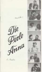Städtebundtheater Hof, Reinhold Röttger, Andrea Hödebeck Programmheft Marc Camoletti: DIE PERLE ANNA Premiere 9. April 1986