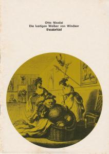 Bühnen der Landeshauptstadt Kiel, Horst Fechner, Klaus-Edgar Wichmann Programmheft DIE LUSTIGEN WEIBER VON WINDSOR Premiere 30. September 1979 Spielzeit 1979 / 80 Heft 3