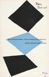 Bayerisches Staatsschauspiel Helmut Henrichs, Walter Haug Programmheft Gerhart Hauptmann ROSE BERND Premiere 14. Oktober 1959 Residenztheater Spielzeit 1959 / 60 Heft 2
